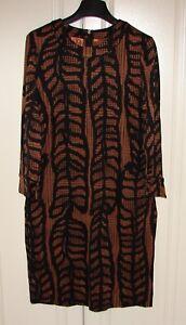 NWT Tory Burch sz Small brown black silk jersey Cadence sheath dress $375