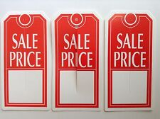 1000 Large Red And White Sale Price Tag With Center Slit Merchandise Price Tag