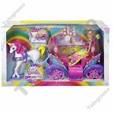 Barbie Dreamtopia Rainbow Cove Princess Doll Horse & Carriage - DPY38 - NEW