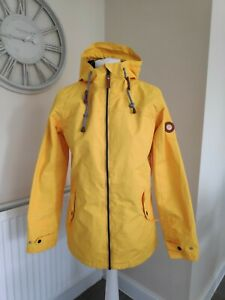 Gelert Womens Yellow Ladies Coast Waterproof Hooded Jacket Coat Uk10