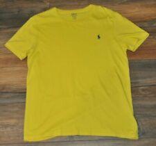 Ralph Lauren Mens T- Shirt Crew Neck Basic Casual Top Yellow Size M / Medium