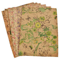 A4 Flower Printed Soft Cork Synthetic Leather Fabric For DIY Bows Accessories