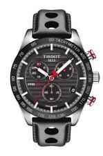 Tissot PRS 516 Chronograph (T1004171605100) Herren Armbanduhr mit schwarzem Lederarmband