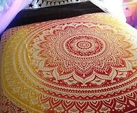 Indio Tapiz Colgante de Pared Mandala MANTA Hippie Colcha GITANO individual @