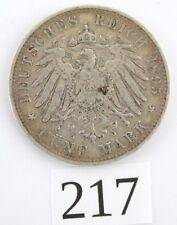 """5 Mark 1895 F Silbermünze """" Wilhelm König v. Württemberg """" Jäger J. 176"""