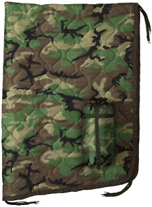 USGI Military Style All Weather Poncho Liner / Woobie Blanket in Woodland Camo