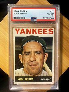 1964 Topps #21 Yogi Berra PSA 2 GOOD