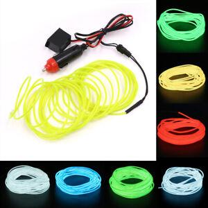 12V LED EL Wire Car Interior Atmosphere Neon String Strip Lights Rope Tube Lamp
