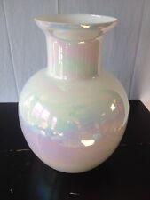 Rare Large iridescent glass vase From Cambridge Glass Handblown