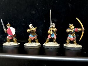 Frostgrave Warriors Soldiers X 4 Painted Wargaming D&D