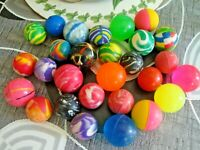 JOB LOT 28 COLOURED LOOSE BOUNCY BALLS NEW STOCK CLEARANCE PARTY BAG FILLER F.P.