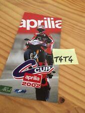 Aprilia Cup 2002 Prospekt Werbung Reklame Prospekt Broschüre Katalog