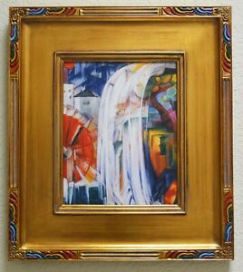 """""""THE BEWITCHED MILL"""" ~ FRANZ MARC (1913) ~ CUSTOM FRAME~ GICLEE PRINT ON CANVAS"""