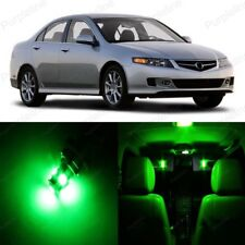 14 x Green LED Interior Lights Package For 2004 - 2008 Acura TSX + PRY TOOL