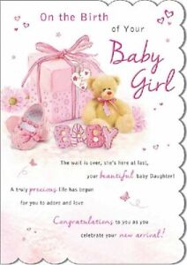 On the Birth of Your Baby Girl .... Congratulations Greeting Card