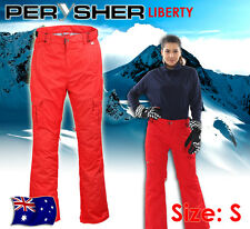 PERYSHER LIBERTY Womens Ski & Snowboard Pants - Ladies Carmine Red, Small