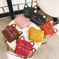 Kids Fashion Purse Cat Messenger Crossbody Shoulder Bag Satchel Handbag Tote
