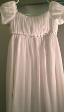 DAVID'S BRIDAL Ivory FLOWER GIRL DRESS SZ 6