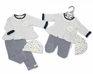 Floral/Spotted Baby girl  Cotton Leggings Set with Hat Gift Set NB-6 Months