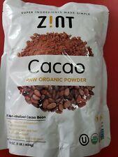 Zint Organic Cacao Powder (16 oz): Raw Non-Alkalized Chocolate With Powerful...