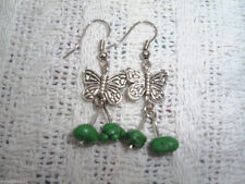 Turquoise Silver Asian Earrings