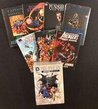 MARVEL & DC HC Book Lot of 8! DC NEW 52 Captain America AVENGERS $325 Value! NM