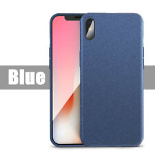For iPhone XS Max XR Shockproof Thin Soft TPU Sandstone Matte Back Case Cover