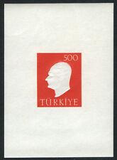 Turkey 1472a M/S, MI Bl.9, MNH. Kemal Ataturk, 1959