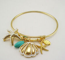 Joan Rivers  Sea Shell Bracelet  Petite to Average  Goldtone