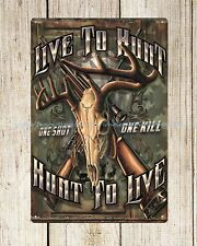 Uns Verkäufer Garage Metall Poster Regale Live TO HUNT Metal Tin Sign