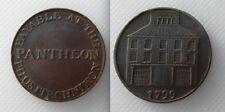 Collectable 1799 Dublin Half Penny Token Payable At The Pantheon Phusitechnikon