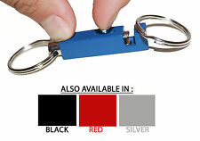 Metal key ring with spring clip - easy, quick release, strong, hang on your belt