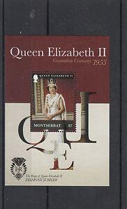 Montserrat 2012 MNH Diamond Jubilee 1v Sheet Coronation Ceremony Queen Elizabeth