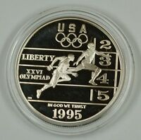 1995 Atlanta Olympic Track and Field Proof Silver $1 Commem. Coin, No Box No Coa