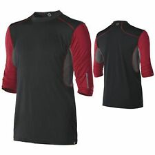 DeMarini CoMotion Mens Baseball/Softball Mid Sleeve Game T Black/Red Medium Cart