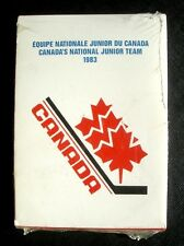 1983 CANADIAN NATIONAL Junior Hockey Team Factory Sealed Set ~ Lemieux Yzerman