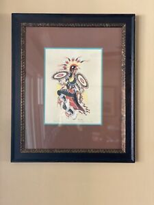 Silk Screen Original Woody Crumbo Pencil Signed
