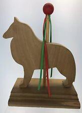 Belgian Tervuren Sheepdog Groenendael Dog Wooden Silhouette Figure Carousel