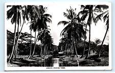 1950s Jamaica Spanish Town River Palm Trees RPPC Vintage Real Photo Postcard C91