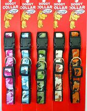 Camo Dog Collar Adjustable Medium, Large Camouflage-Pink,Green,Brown,Orange,Blue