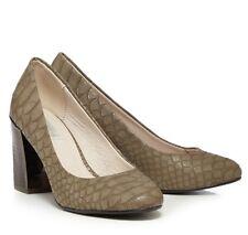 RJR.John Rocha Grey Croc Textured Court Shoes RRP £45 UK 8 EU 41 LN077 CC 03