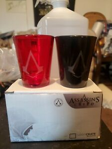 Assassins Creed Loot Crate Exclusive Shot Glasses New in box quantity for sale