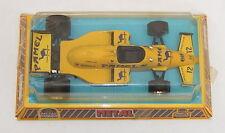 Mira Camel Pamel Yellow Race Car Made in Spain 1/25 Scale Metal ERROR