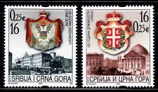 SERBIA Y MONTENEGRO 2003 2982/83 ARTE ESCUDOS 2v