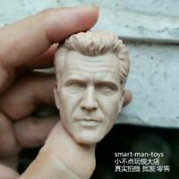 "1/6 Unpainted Head Male Sculpt Mel Gibson PVC Carved Sculpt Model For 12"" Figure"