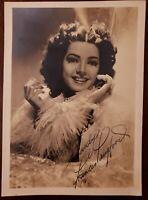 Frances Langford Signed Autographed Photo Original Envelope
