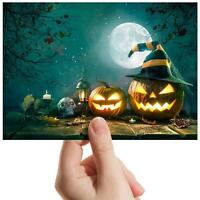 "Spooky Pumpkin Moon Halloween Small Photograph 6""x4"" Art Print Photo Gift #14882"