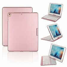 iPad Keyboard Case, Proslife 360 Degree Rotatable Cover with Wireless Keyboard,