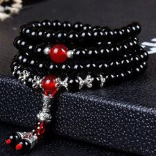Noble Jewel Natural Black Agate Multilayer Bracelet