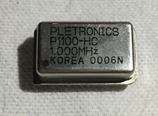 1 Pletronics P1100-HC 1.000M 1Mhz Crystal Oscillator New